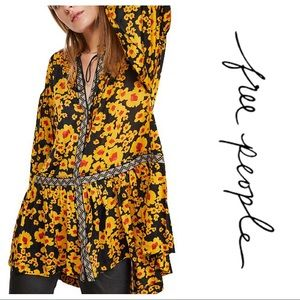 NEW Free People Love Letter Floral Flowy Tunic